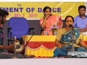 Dr. V. LAKSHMI, M.A., M.Phil., Ph.D  Assistant Professor in Carnatic Music Vocal