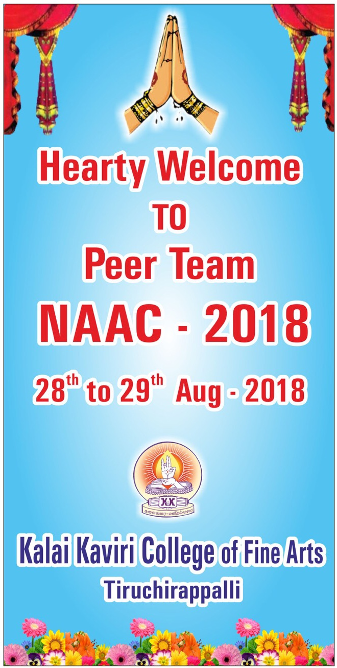 We Welcome NAAC Peer Team Visit to our College on 28th-29th of August 2018